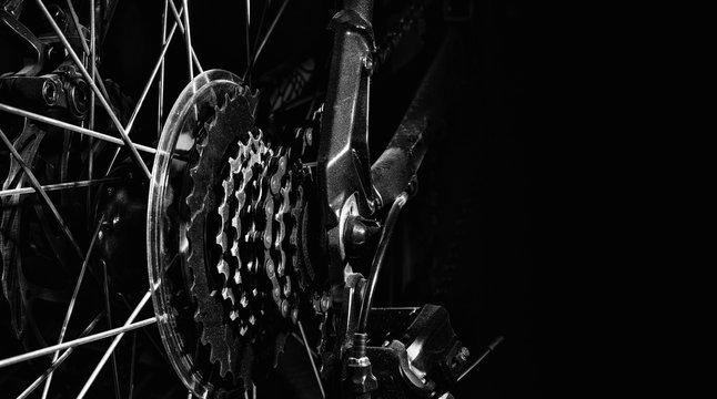 Dusty Bike Rear Wheel Cassette