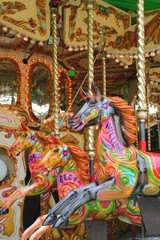 carousel merry-go-round horses painted