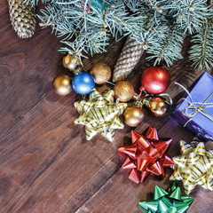 New Year background, decor, Christmas.