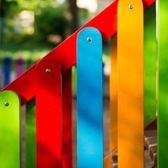 Colorful railing