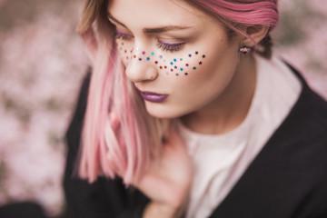 Pink glitter girl