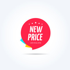 New Price Shopping Marketing Tag
