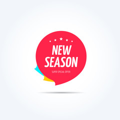 New Season Shopping Marketing Tag