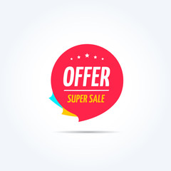 Offer Super Sale Shopping Marketing Tag