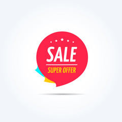 Sale Super Offer Shopping Marketing Tag