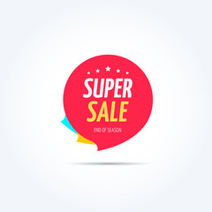 Super Sale Shopping Marketing Tag