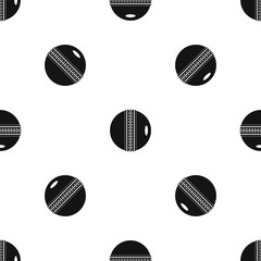 Black and white cricket ball pattern seamless black