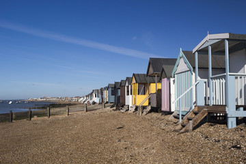 Beach Huts, Thorpe Bay, Essex, England