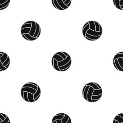 Black volleyball ball pattern seamless black
