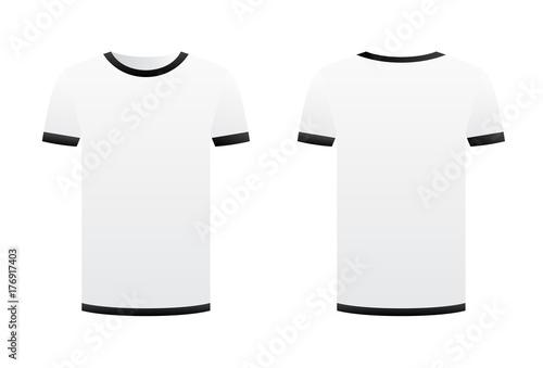 White t shirt template black ribbons isolated on white background white t shirt template black ribbons isolated on white background front and back short sleeve maxwellsz