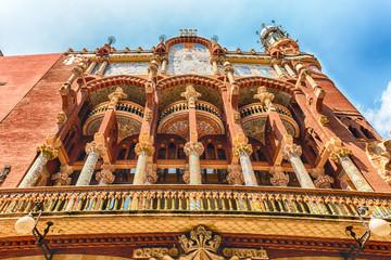 Foto op Canvas Barcelona Exterior of Palau de la Musica Catalana, Barcelona, Catalonia, Spain
