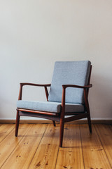 Wooden Scandinavian Armchair
