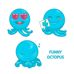 Funny and cute octopus