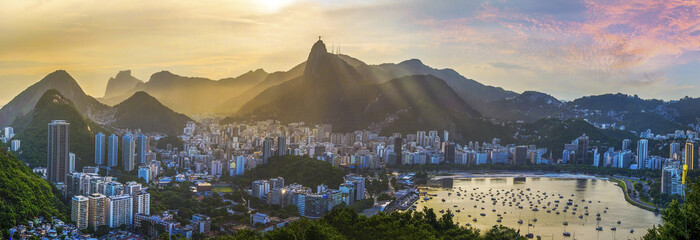 Panoramic view of Rio De Janeiro, Brazil landscape Wall mural