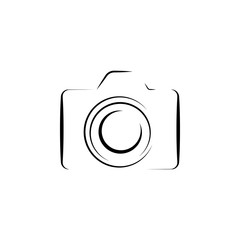 Photo camera silhouette logo icon