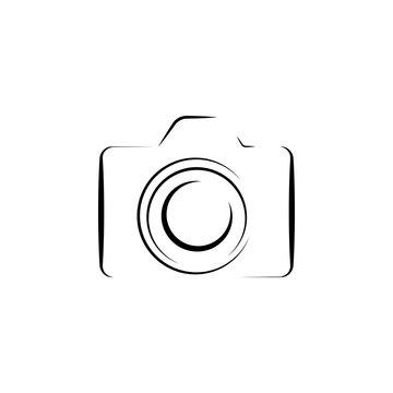 Photo camera silhouette logo icon