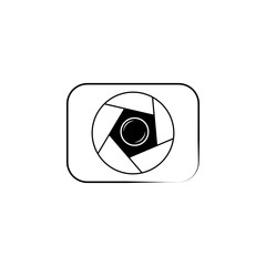 photo camera lens logo icon