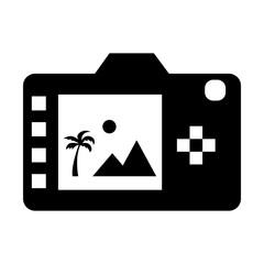 Digital photo camera back display icon