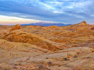 Sunset. Valley of Fire, Nevada, USA