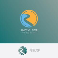 letter R finance logo