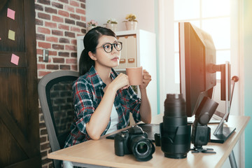 pretty female photo stock company photographer
