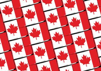 Grunge Canada flag or banner