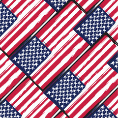 Grunge UNITED STATES flag or banner