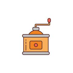 Coffee maker icon vector logo illustration