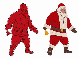 illustration of santa claus, vector draw