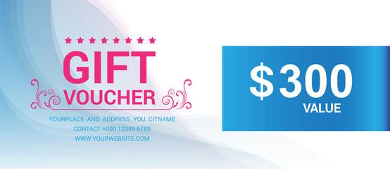 Gift voucher template modern pattern vector design. Vector illustration