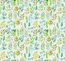 Watercolor beautiful floral design, seamless pattern