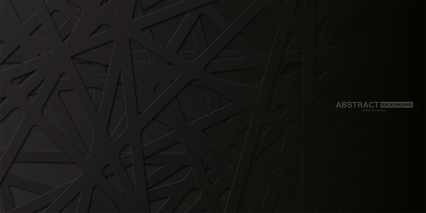Black abstract background with dark concept.Vector Illustration.