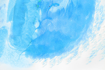 Watercolor blue brush waves wbackground design .