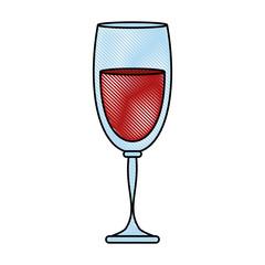 Delicious wine cup icon vector illustration graphic design