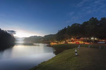 Sunrise in Pang Ung Maehongson Thailand