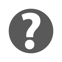 Question mark sign icon vector simple