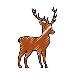 christmas reindeer head horned animal decoration