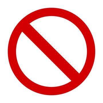Prohibition sign or no sign icon vector simple
