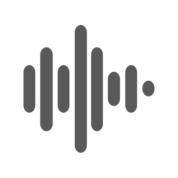 Sound wave icon vector simple
