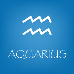 Aquarius zodiac sign icon vector simple