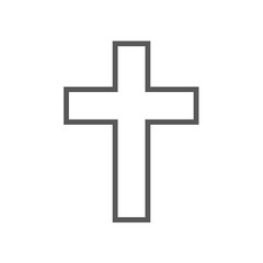 Catholic cross icon vector simple