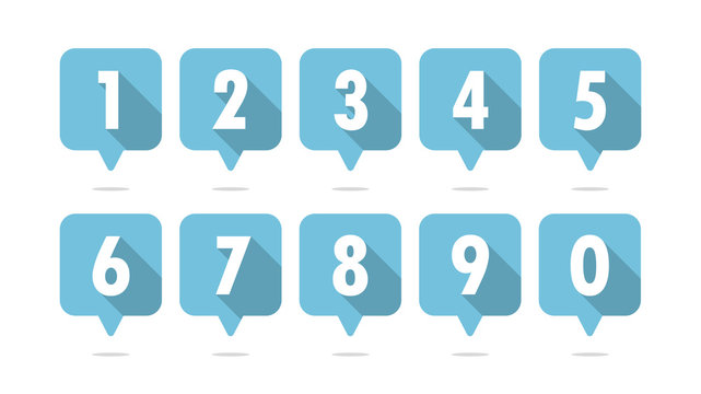 Numbers balloon icon vector