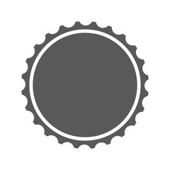 Beer cap icon vector simple