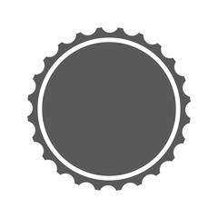 Beer cap icon vector simple