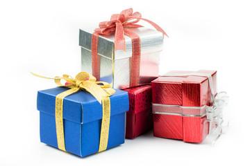 Beautiful gift box on white background..