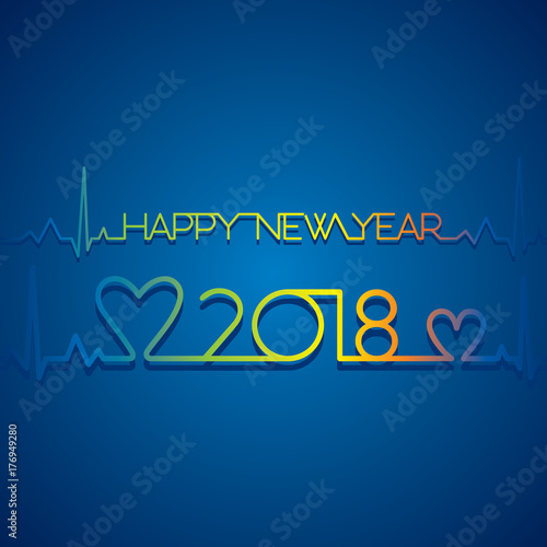 creative happy new year 2018 poster