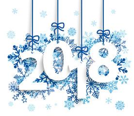 2018 Blaue Schneeflocken