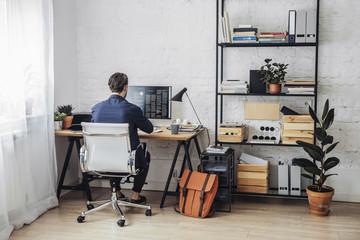 Freelance Businessman Working