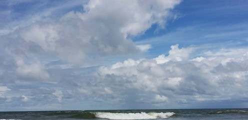 Beautiful sky view on the beach