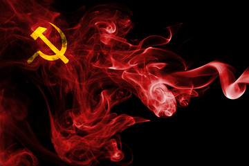 Communist smoke flag